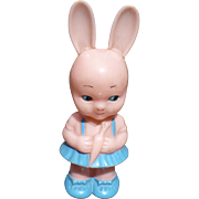 Plastic Bunny Rattle Pink