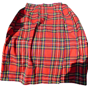 1950's  Plaid Skirt