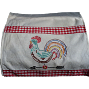 Embroidered Rooster Towel