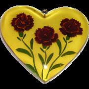 Reverse Carved Bakelite Heart