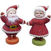 Beaded Mr & Mrs Santa Claus