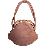 Brown Suede Dofan Purse
