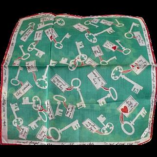 Keys Love Handkerchief