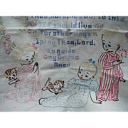 Children's Embroidered Prayer