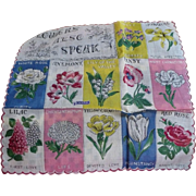 Flowers Speak Handkerchief