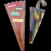 Italy Souvenir Comb & Case