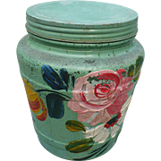 Glass Ball Painted Jar