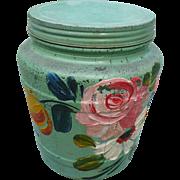 Glass Ball Painted Jar