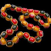 Bakelite Multicolor Beaded Necklace