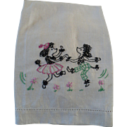 Poodles Dancing Towel Embroidered