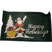 Happy Holidays Rubber Mat