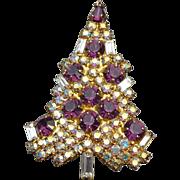 Eisenberg Ice Christmas Tree Pin