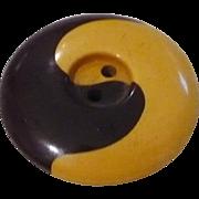 Ying Yang Bakelite Button