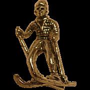 Sterling Skier Charm