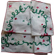 Holiday Greetings Handkerchief