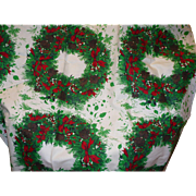 Xmas Wreath Fabric