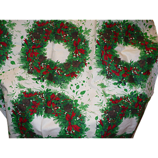 Xmas Wreath Fabric