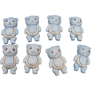 Teddy Bear Ceramic Drawer Pulls