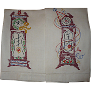 New Years Eve Embroidered Towels