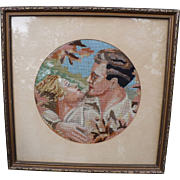 Romantic Needlepoint Picture