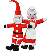 Knit Mr & Mrs Santa Claus Dolls