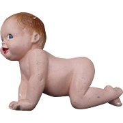 1940's Chalkware Baby Plaque