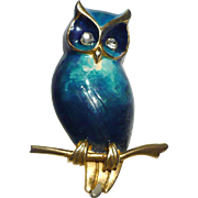 Boucher Enamel Owl Pin
