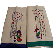 Boy Girl Embroidered Towels