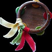 Wood Bakelite Tambourine Pin
