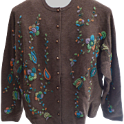 Heavily Beaded Cardigan Ladies Sweater