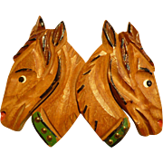 Wooden Horse Pin