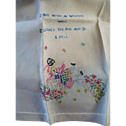 Embroidered  Fingertip Guest Towel