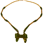 Bakelite Bow Necklace