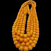 Cream Bakelite Bead Necklace
