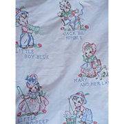 Embroidered Childs Sheet