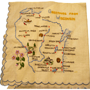 Greetings Wisconsin Handkerchief