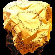 Battenburg Lace Linen Tablecloth