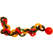 Multicolor Bakelite Chain Bracelet