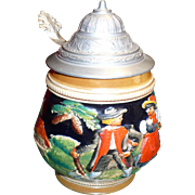 Lidded German Stein