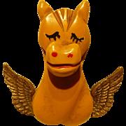 Horse Angel Bakelite Pin