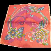 Floral Pink Handkrchief