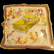 Opel Olympia Rekord Car Advertising Handkerchief