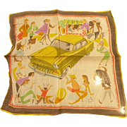 Opel Olympia Rekord Car Advertising Handkerchief