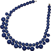 Blue Plastic Bad Necklace