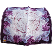 Purple Leaves Handkrchief