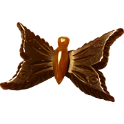 Bakelite Butterfly Pin