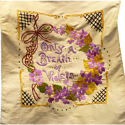Violets Embroidered Piece