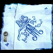 Initail M Handkerchief