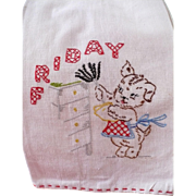 Friday Embroidered Dusting Towel