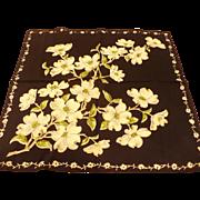 Black Dogwood Handkerchief